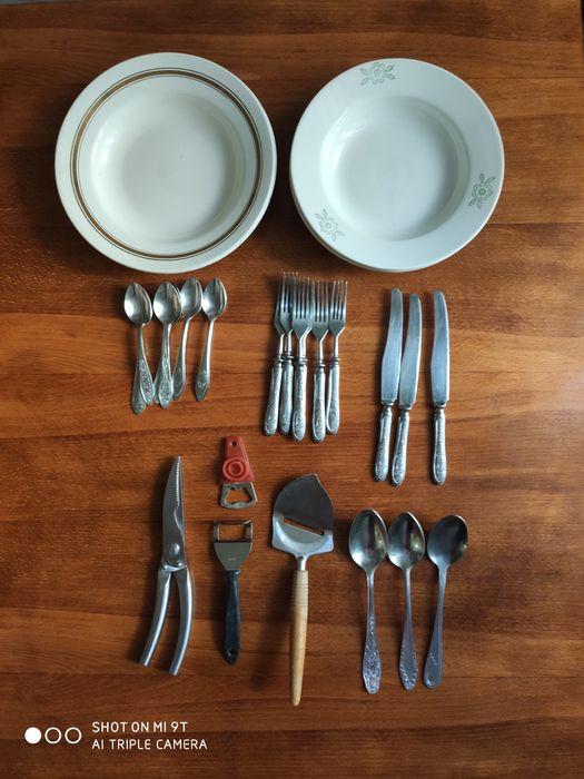 Кухонная утварь ложки вилки тарелки глубокие ножи Львов - изображение 1