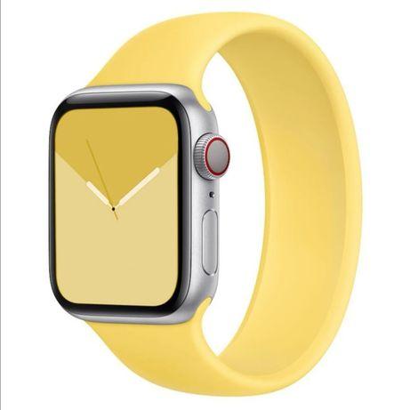 Nowy, żółty pasek do Apple Watch 5 szer. 42mm 44mm rozm. M