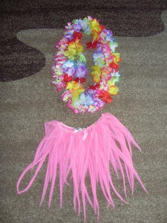 1, Hula Hawajska spódniczka łańcuch z kwiatów H&M strój kostium