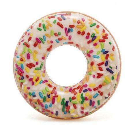 Новий надувний круг пончик з присипкою 114см ціна 260 гривень