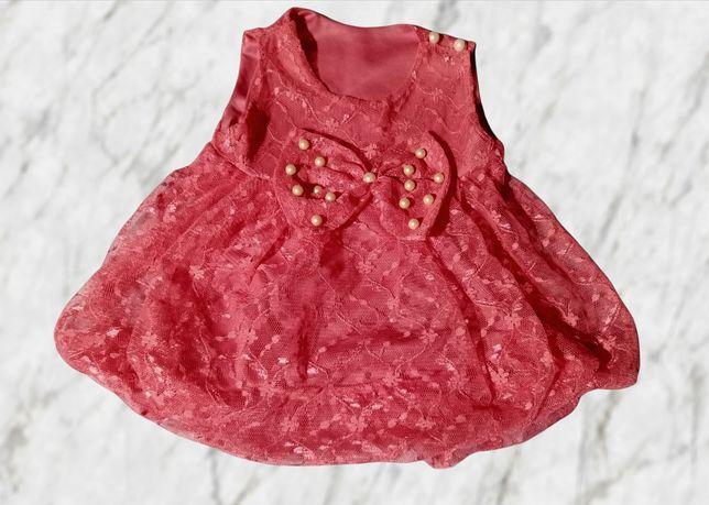 Нарядное платье на девочку до 4 месяцев