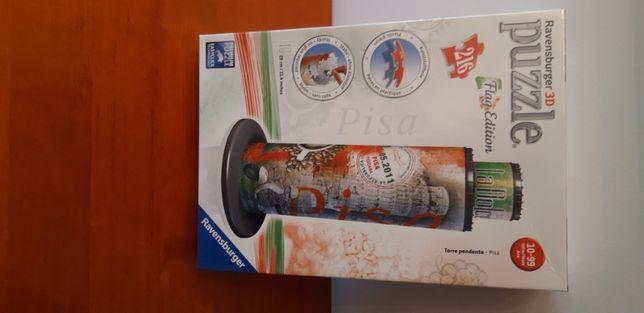 Nowe Puzzle 3d Krzywa wieża w Pizie firmy Ravensburger.