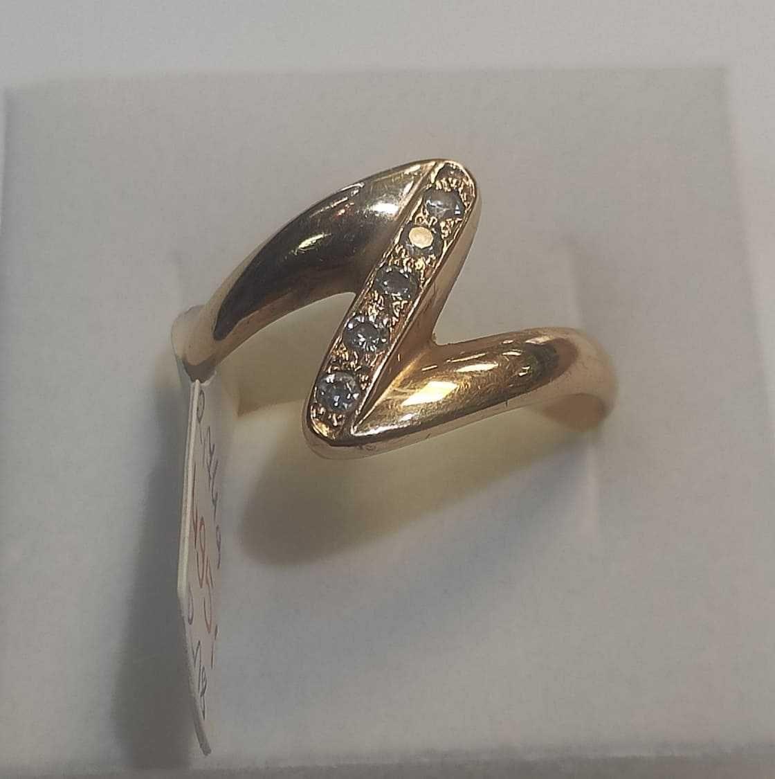 Pierścionek złoty z cyrkoniami pr.585 14 KT rozm. 18 Lombard Madej DG