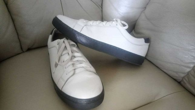 Кеды туфли белые Venice 45 р. Кожа