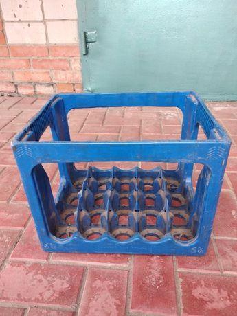 Ящик пивной пластиковый 0,33-0,5 л стекло тара