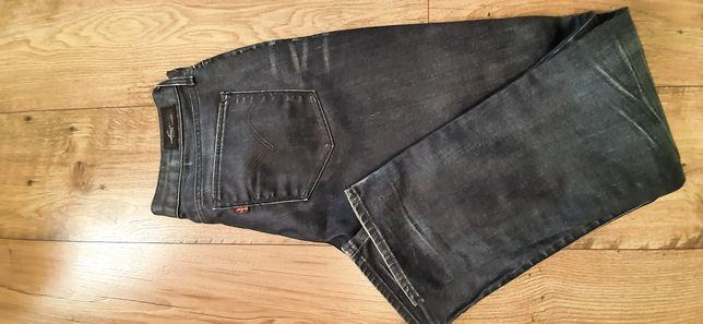 Spodnie Levis Skinny 30x30 grafit oryginalne przecierane jak nowe
