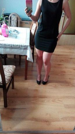 Mała czarna sukienka s 36 złoty zamek mini