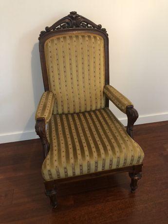 Fotel antyk eklektyk zabytkowy