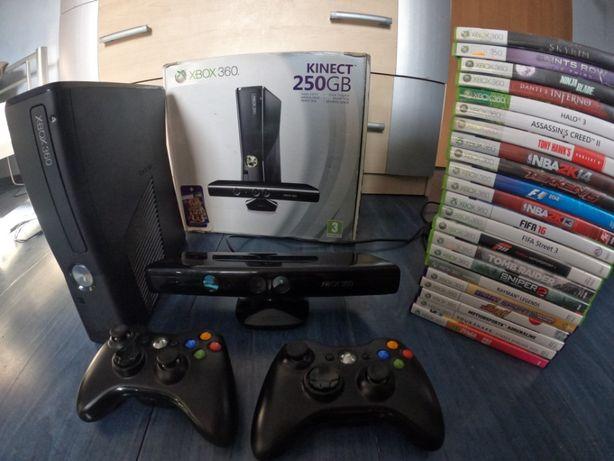 Konsola Xbox 360 250GB Kinect 22 Gry
