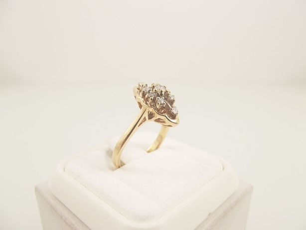 pierścionek złoto 585 brylanty 0,25 karata - 3,65 g