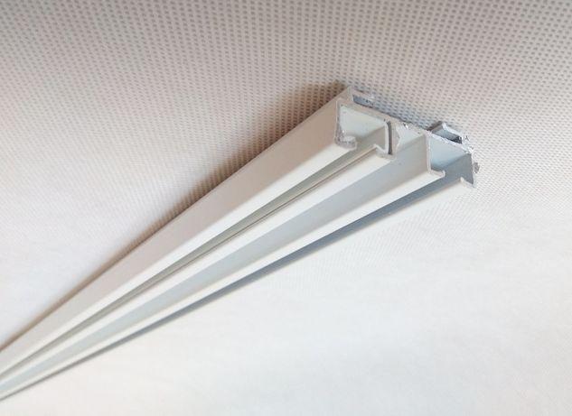 Szyna Sufitowa 2-torowa Aluminiowa Biała seria Silent