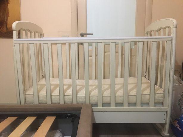 Кроватка детская + Комод Верес Соня + матрас+пеленатор