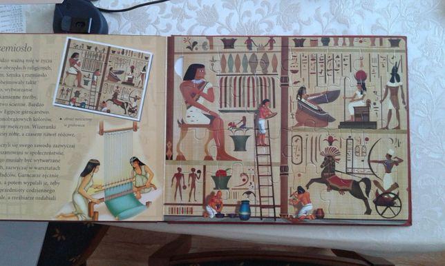 książka z puzzlami Starożytny Egipt