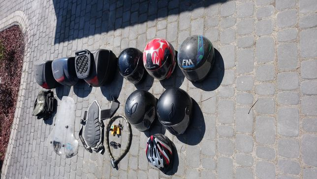 Akcesoria motocyklowe,kufry ,kaski, blokady