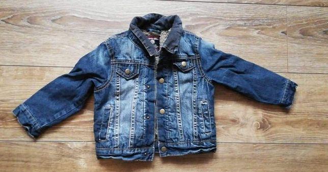 Kurtka jeans ocieplana roz 104