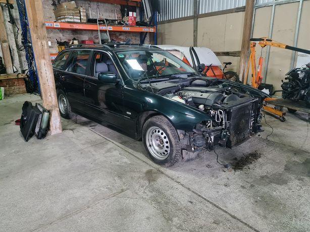 Drzwi błotnik zderzak zamek podnośnik boczki BMW E39 m54b22