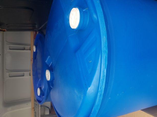 Beczki  220l niebieskie