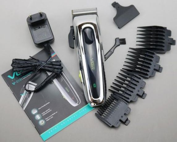 Профессиональная машинка для стрижки волос, триммер VGR V-018 LED
