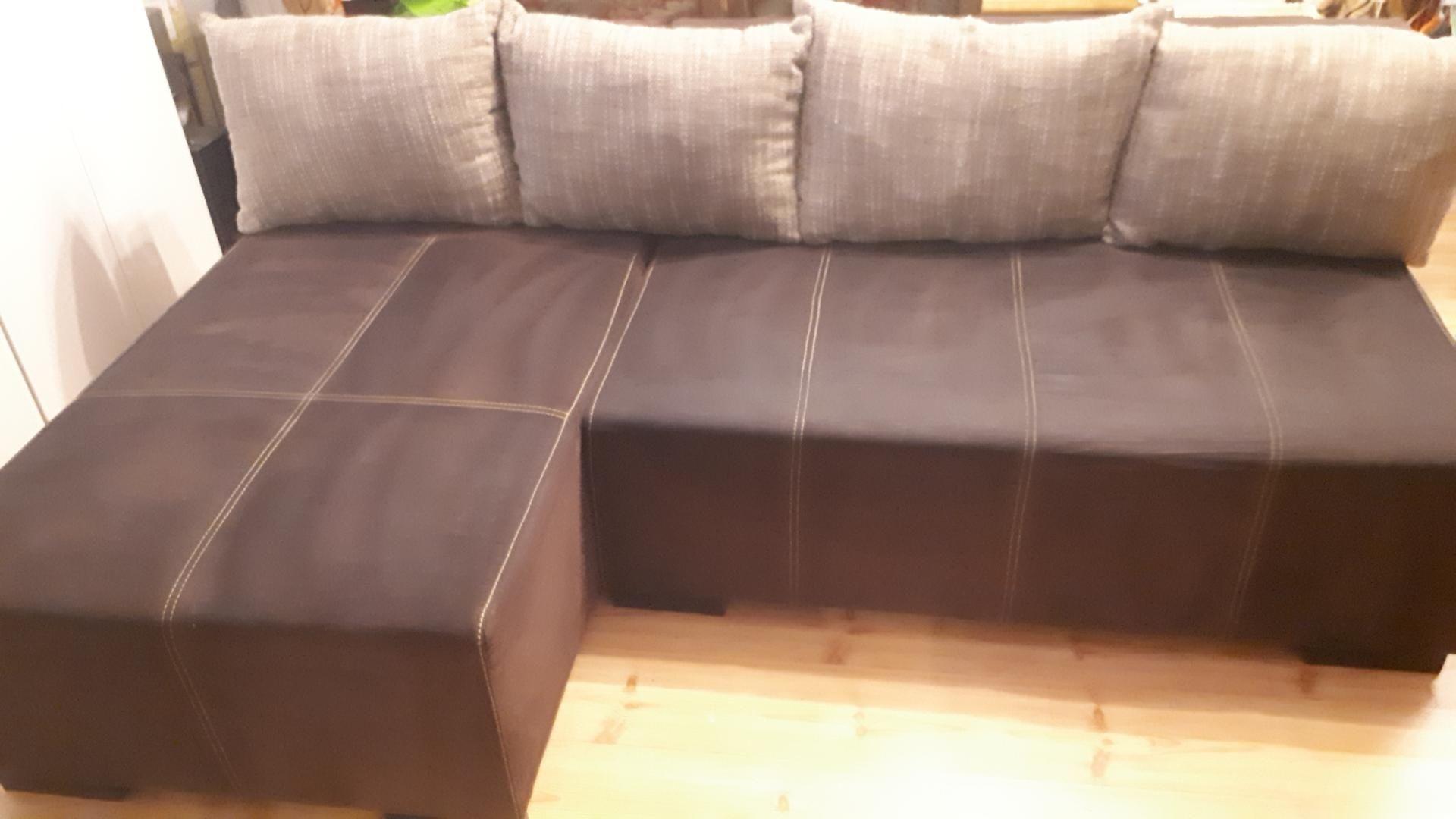 Narożnik BRW Sofa z funkcją spania i poj na pościel plus poduchy