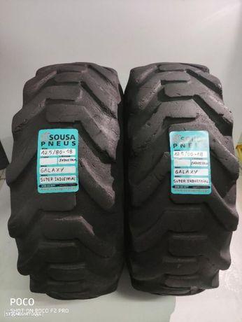 2 pneus semi novos Galaxy 12.5 -80- 18 Rectroescavadoras - Oferta dos Portes