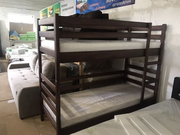Ліжко двоповерхове. Кровать двухярусная под ортопедический матрас.