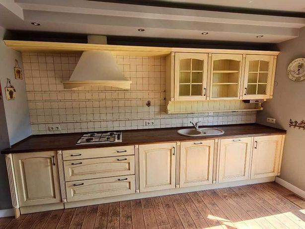 Drewniane meble kuchenne - styl prowansalski  + AGD