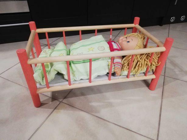 Łóżeczko drewniane dla lalki