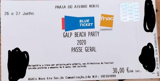 2 Passes 2 dias Galp Beach Party