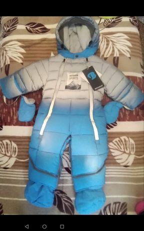 Комбинезон зима мальчик 80 размер детская верхняя одежда