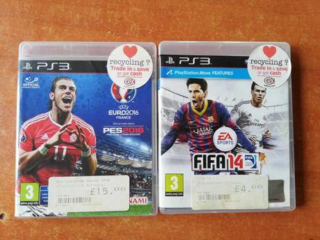 Gry Fifa14 i PES2016 na PS3