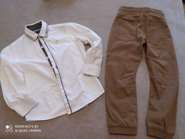 Komplet biała koszula spodnie rozm. 116- 122 next Qubus śliczny