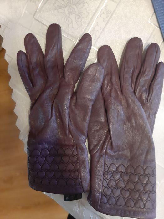 Rękawiczki damskie fioletowe Lubin - image 1