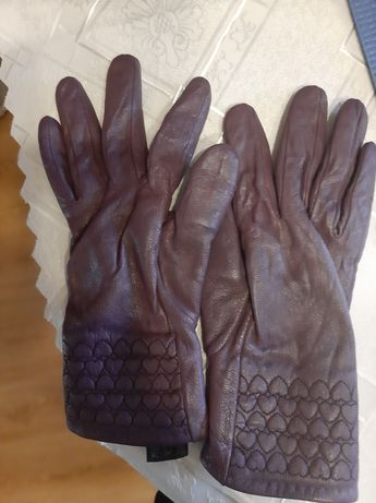 Rękawiczki damskie fioletowe