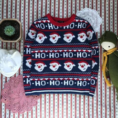 Новогодний свитер Next на 6 лет