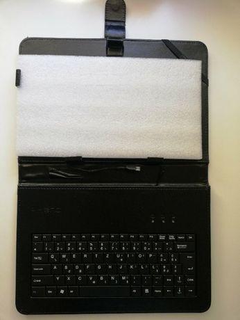 Etui na tablet 10.1 z klawiaturą skórzany Kiano