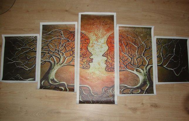 Pintura em tela 5 painéis (Nova)