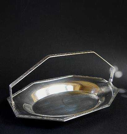 Винтажная фруктовница из столового серебра