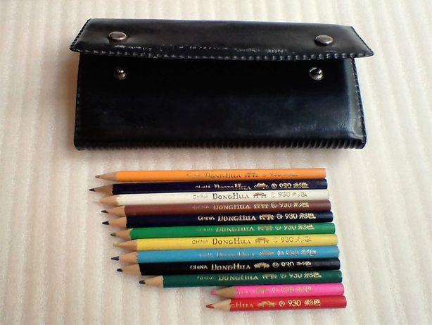 Цветные карандаши для рисования - DongHua CHINA, Китай. 12шт. Пенал.