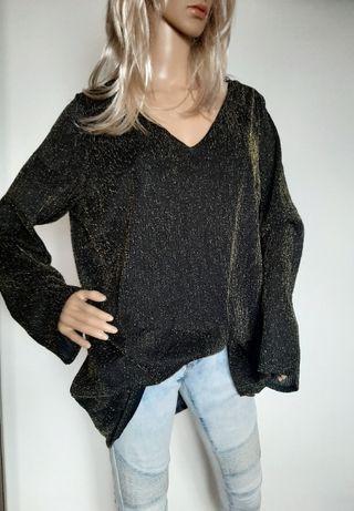 L36 bluzka tunika czarno złota Essence rozm 22 , 50