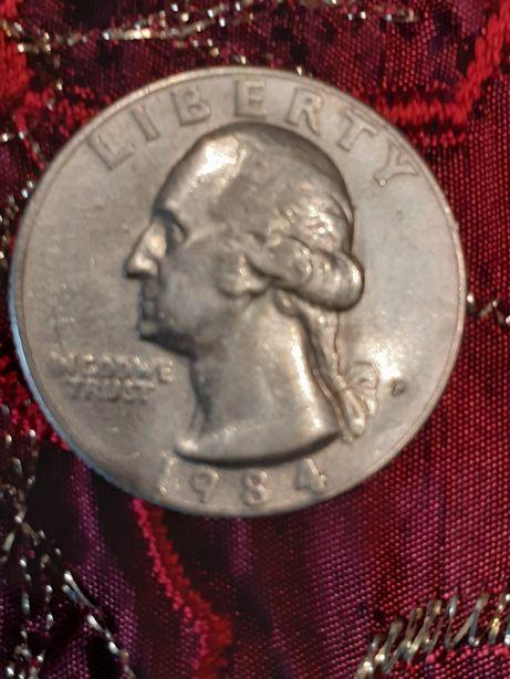 Moneta ćwierć dolars 1984r.