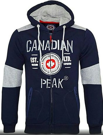 Bluza męska kaptur oryginalny Canadian Peak nowa rozpinana M L