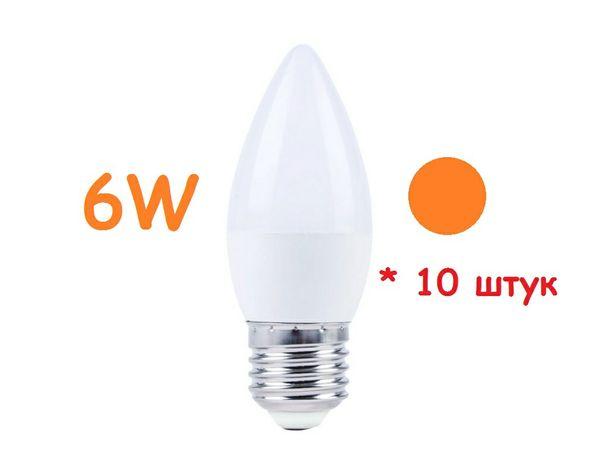 10  штук- Светодиодные лампы свечи 6 Вт SUNDAY ULTRA-627