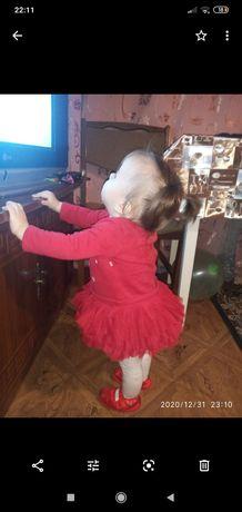 Платье красное детское