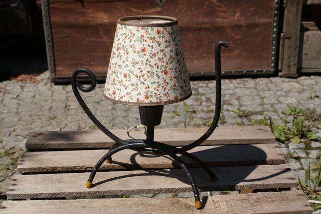Lampa lampka z okresu PRL - metaloplastyka / vintage