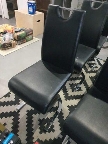 9 cadeiras de jantar em couro