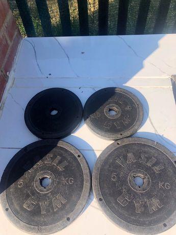 Комплект блинов Vasil Gym внутренний диаметр 25