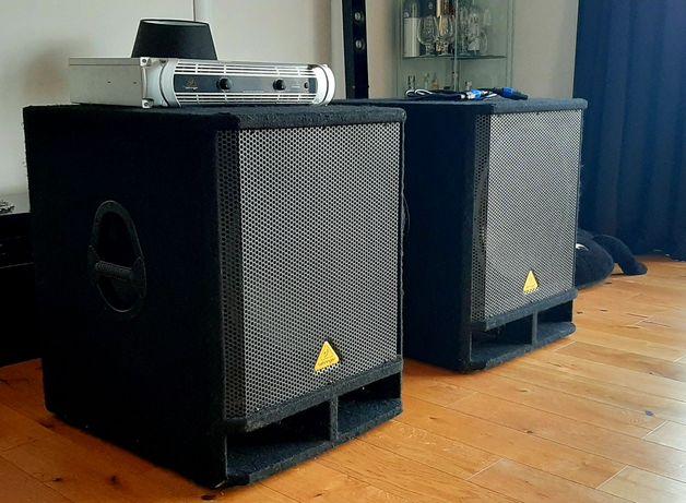 Zestaw głośników basowych, Subwoofer 1600 W, wzmacniacz 6000 W +kable
