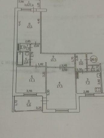Продается 3-х ком квартира с автономным отоплением 1 микрорайон