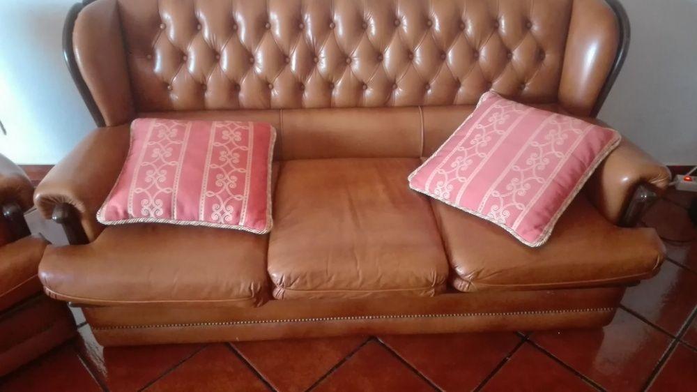 Sofás em pele Belmonte E Colmeal Da Torre - imagem 1