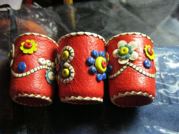 набор 3 рюмка стакан ручная работа handmade натуральная кожа кипр